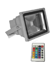 LED FLOODLIGHTS RGB WITH REMOTE CONTROL 230V AC